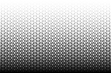 Geometric pattern of black diamonds on a white background.