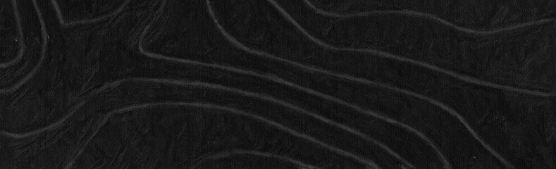 Wall Mural - dark gray topographic abstract background, 3d render