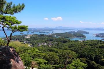 千巌山の眺望 天草松島の風景