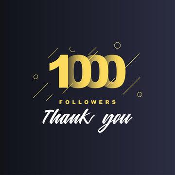 1000 Followers thank you