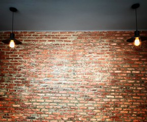 red brick wall background and texture copy space for any design.