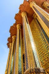Ornate exterior, Grand Palace & Temple of the Emerald Buddha, Bangkok, Thailand
