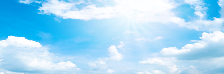Beautiful blue sky cloudsfor background. Panorama of sky.