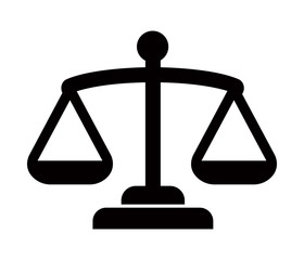 Balance, judge, scale, court icon