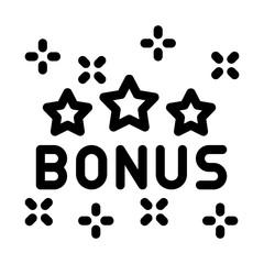 Bonus Star Logo Icon Vector. Outline Bonus Star Logo Sign. Isolated Contour Symbol Illustration