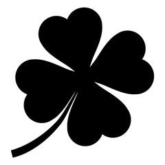 gz603 GrafikZeichnung - german: Viel Glück / Vierblättriges Kleeblatt Symbol. english: good luck / 4 clover leaf icon. simple template isolated on white background - square xxl g8745