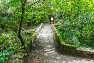 stone bridge over the river Eume in the Fragas do Eume
