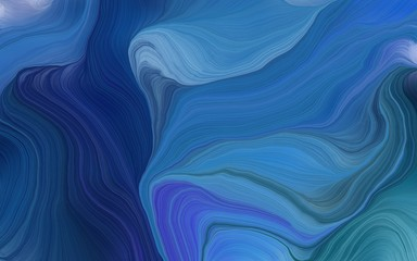 modern waves background illustration with teal blue, very dark blue and midnight blue color
