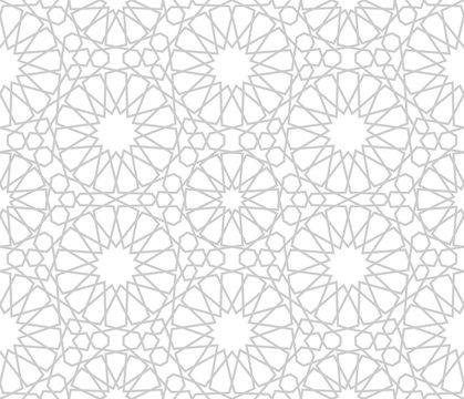 Monochrome islamic seamless pattern