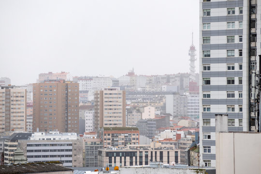 Cityscape of La Coruña, Spain