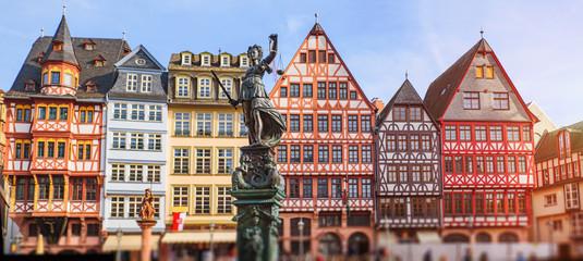 Old town square romerberg in Frankfurt, Germany Fototapete