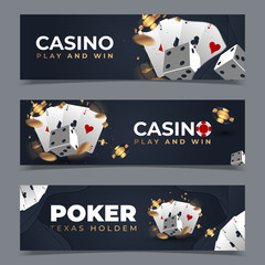 set of vector casino's banners