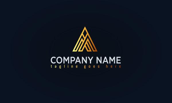 Company Gold Logo Design, Luxury Gold Concept Logo,