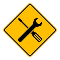 Werkzeuge und Schild