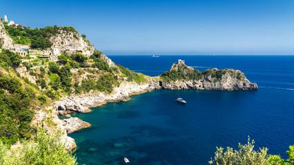 Costiera Amalfitana, Italy, the coast at summer