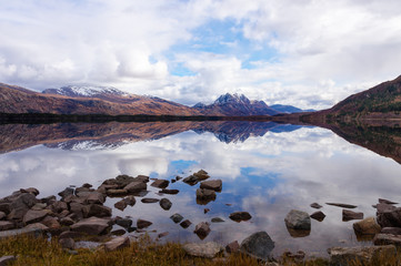 Loch Maree looking toward Slioch. Beautiful reflections