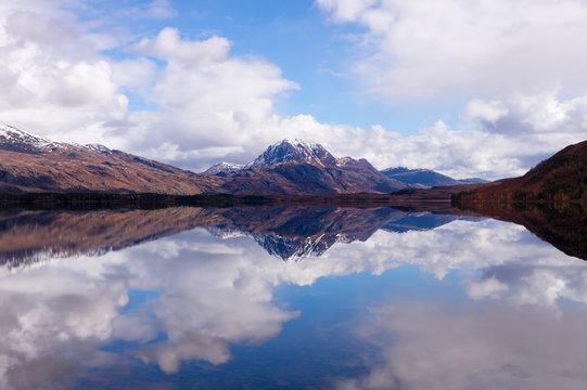 Loch Maree looking toward Slioch with beautiful reflections