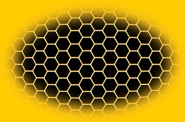abstract background with honeycombs and bees
