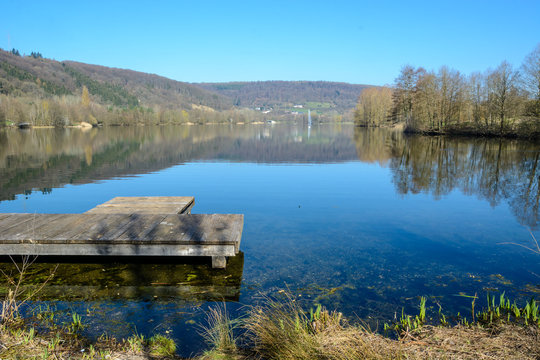 At the Echternach Lake in Luxembourg