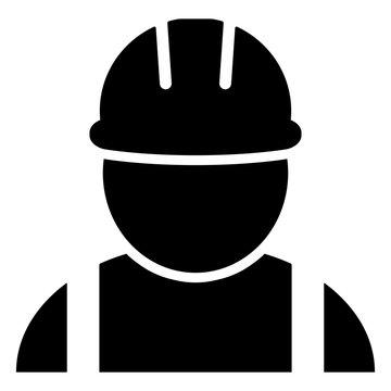 gz604 GrafikZeichnung - german: Arbeiter / Bauarbeiter Helm Symbol. english: safety helmet - worker / construction worker icon. simple template isolated on white background - square xxl g8746