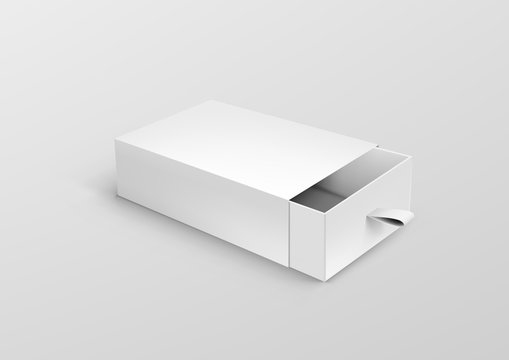 Package Cardboard Ribbon Pull And Slide Drawer Box