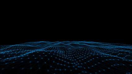 Technologies. Abstract polygonal space low poly dark background with connecting dots and lines. Connection structure. Futuristic polygonal background. Triangular business wallpaper.