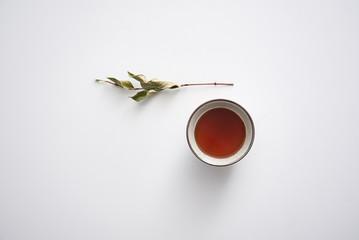 Tea on a white background.
