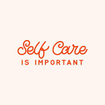 Hand drawn lettering card. The inscription: Self care is important. Perfect design for greeting cards, posters, T-shirts, banners, print invitations.