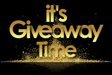 It's Giveaway Time in golden stars background