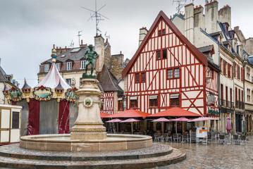 Francois Rude square, Dijon, France