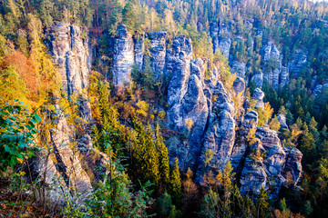 view at the famous bastei hills