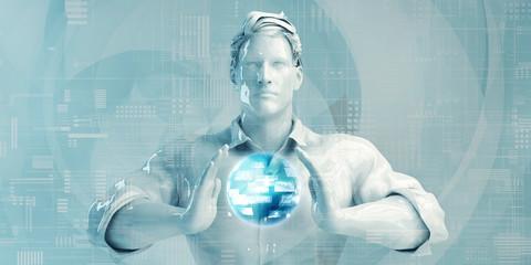 Business Man Using Digital Solutions