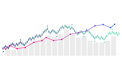 grafico economia, istogrammi, statistiche Fotobehang