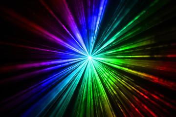 Colourful laser light beams taken in the dark room
