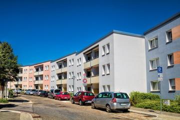 Fotomurales - sanierte wohnhäuser in bernau bei berlin, deutschland