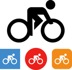 Road Bike Cycling Vector Icon