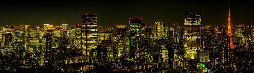 東京の典型的な夜景Night panorama of Tokyo, Japan