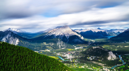 Banff Township Alberta Canada From Above