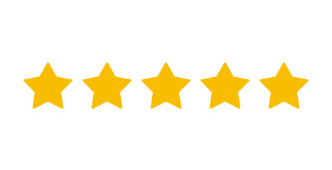 Five star ranking in a flat style. Vector illustration