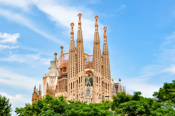 Self adhesive Wall Murals Barcelona Sagrada Familia Cathedral, Barcelona, Spain