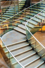 Stairs of the shopping center