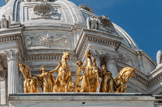 St. Paul Minnesota State Capitol with Golden Horses