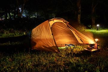 岐阜県 平湯キャンプ場 キャンプの夜