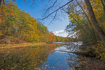 Shade, Shadows, and Reflections on a Fall Lake