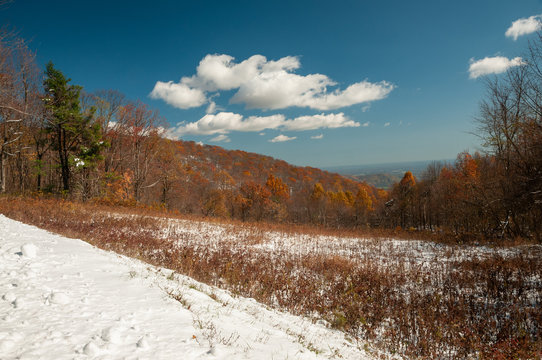 Snow in the mountains of Virginia