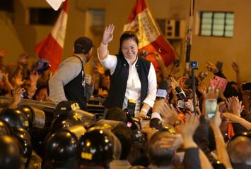 Peru's opposition leader Keiko Fujimori is released from the Santa Monica prison, in Lima