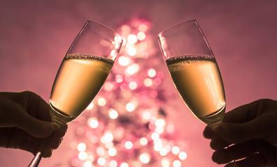Christmas toast celebration