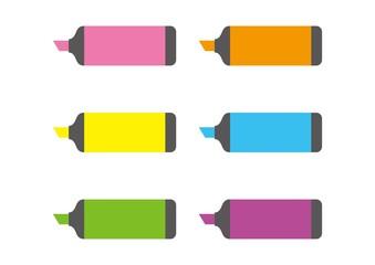 蛍光ペンのセット
