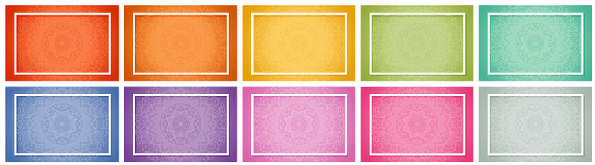 Background templates with mandala patterns
