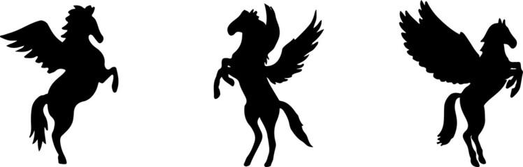 pegasus icon isolated on white background